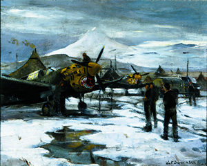 william draper world war II painting in Alaska