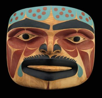 Norman Jackson wood mask carving