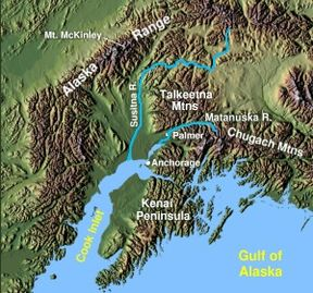susitina river in Alaska
